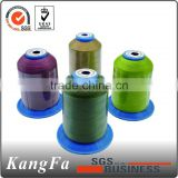 100% raw white spun polyester sewing thread for closing bag
