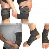Black Elastic Knee Compression Bandage Wraps