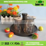 5pcs set plastic seasoning pot with round base