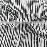 Comfortable soft stripe t-shirt zebra printed 100% crepe viscose fabric for shirts and blouses