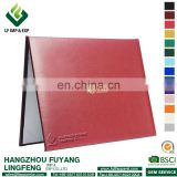Leather Diploma Cover, Certificate Holder Maroon Cover