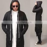 wholesale elongated hoodies -best quality cotton fleece extra long extended bottom elongated hoodie