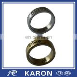 fashionable custom engraved logo souvenir ring for wholesale