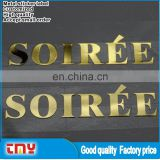 Adhesive Gold Metal Label Sticker Custom Metal Brand Logo Sticker Label