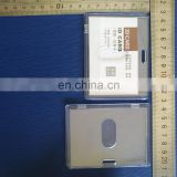 hard pvc clear plastic id card case holder in horizontal shape