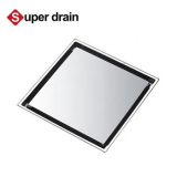 stainless steel strainer China factory manufacturer grate concrete  bathroom insert tiles square shower floor drain Image