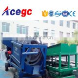 China mini mobile gold trommel screen washing and processing plant for sale Image