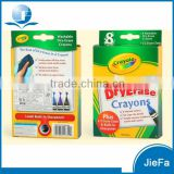 Packed Multi Color Wax Washable Dry-Erase Crayon
