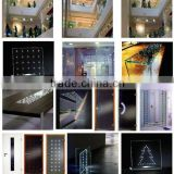 High-end/Energy-saving led glass panel/glass with led lights/light glass for curtain wall