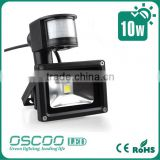 led flood light with motion sensor 10W led outdoor flood light PIR Sensor motion sensor light with camera