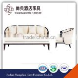 luxury antique white fabric hotel sofa JD-SF-016
