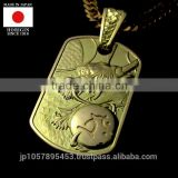 High quality and traditional 24k gold pendant with Stylish made in japan , small lot order available
