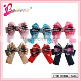 Fashion jewellery high quality kids hair ribbon bows,satin ribbon pre-made bow hair clip