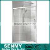 bathroom shower 3 pully sliding doors 1.2mm aluminium frame three folding panels or glasses glass shower door rubber seals