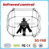 Full functions Infrared helicopter with low power protection function A/B band control helicopter