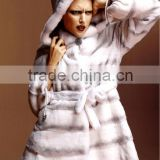 QD22241 Plus Size Woman Clothing Chinchilla Whole Hide Rex Rabbit Fur Coat Wholesale Clothing 2014 Coats