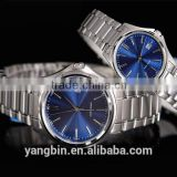 2015 best couple watches all stainless steel case back water resistant watch, wrist watches china