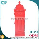 The Most Popular Style In Europe Cast Aluminiun Freestanding London Red Post Boxes For Sale From China