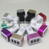 Unique Design 3 Port USB Car Charger for Universal Phone Devices with Discount Image