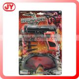 Plastic police weapon play toy set for boys