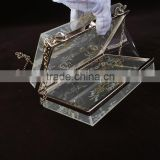Luxurious clear evening bags Party trendy acrylic Box clutch