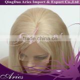4x4 silk base middle part human hair full lace wig real virgin mongolian blonde human hair