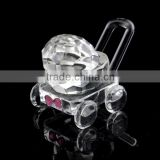 lovely crystal baby carriage for baby shower gifts