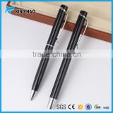 Black barrel ball pen high quality metal promotional ballpoint pen with stainless barrel