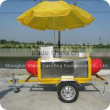 2013 Best-Selling Small Street Big Car Wheels Hot Dog Food Vending Trailer Cart XR-HD220 A