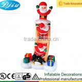 DJ-166 8ft christmas santa climbing Stairs design covering with gift decoration inflatable outdoor