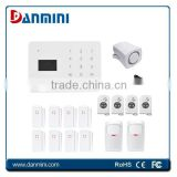 Remote control alarm/disarm! GSM home burglar alarm system with SMS, auto dial gsm alarm burglar alarm with 5 contacts