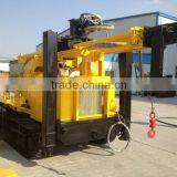 most popular 300m crawler mounted water well drilling rig for mud drilling and dth air drilling