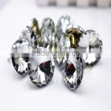 clear faceted crystal glass button for upholstery nail for sofa furniture/satellite surface sofa