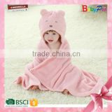 2015 New Products China Wholesale Garment Factory High Quality Baby Cloak Soft Cute Baby Blanket