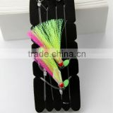 fishing rig flasher sabiki hook lumo wing glow bead 2hooks