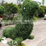 Artificial boxwood greenery sculpture animal figurine for garden landscaping