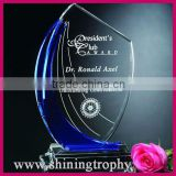 blue and clear crystal sail awards