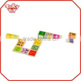 Education Wooden Platset Toys Maths Learn Domino Game