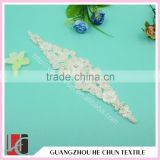 HC-2247 High Quality Off-white Mesh Embroidered Sewing Bridal Beaded Applique,China Wholesale Beaded Appliques
