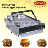 Stainless Steel Electric Hamburger Bun Toaster / Bread Toaster