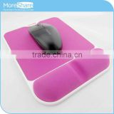 Pink silicon sexy big ass mouse pad with wrist rest