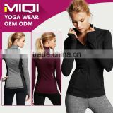 Fitness apparel high quality cheap women yoga jacket running jacket black yoga jacket