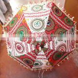 RTUM-1 Colorful Victorian age look Rajasthani umbrella for sun protection Handcrafted Embroidery Design umbrella From Jaipur
