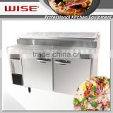 WISE Kitchen User Friendly Refrigerated Pizza Table For Commerical Restaurant Use