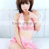 C218 Women's Hot Sexy pink Babydoll Sleepwear+G-string Lingerie Lace Dress Underwear