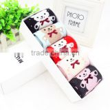 032002-H5 New design gift box packaging Baby bear rabbit wool socks 2015