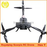 Manufacturer Price Royalplay Hexacopter Scorpio Carbon Fiber RC Drone Frame for Aerial Photography