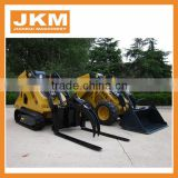 HOT!! multi functional Mini Skid steer loader with bucket and other attachments for sale