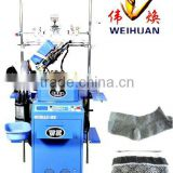 WH-6F-A3 full computerized copy double cylinder circular socks knitting machine (3.5 inch)