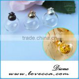blown hollow glass beads,miniature clear glass bottle pendant,printing service